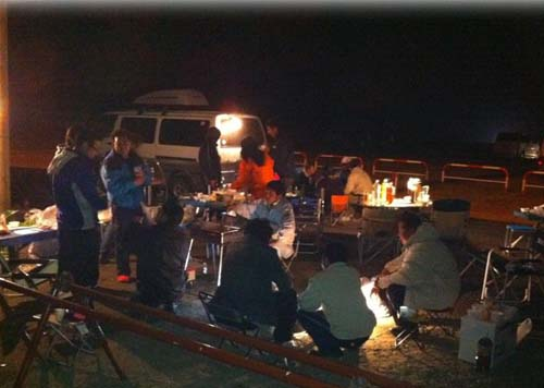 集まったみんなでキャンプ