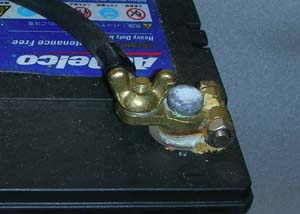 バッテリーの腐食