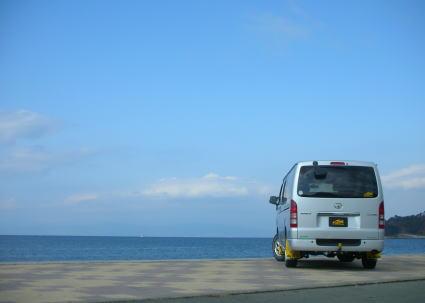 ハイエースでお出かけ。海