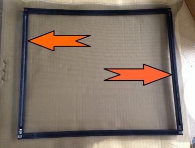 DIY自作用網戸 バグネットの組み立て