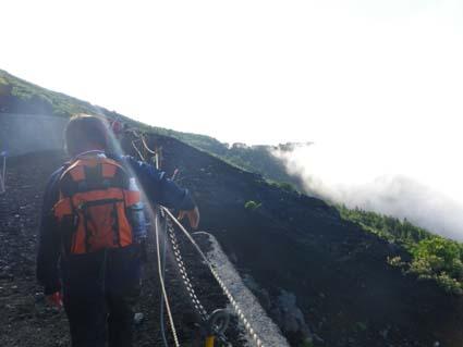 ハイエースで車中泊-富士登山