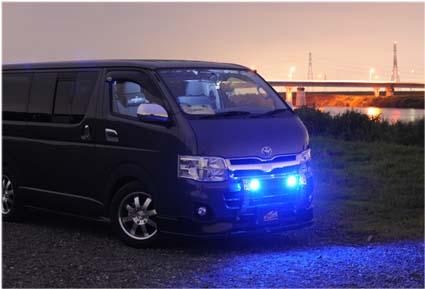 ハイエース200系3型用ランプステー 「LED DOTARM」