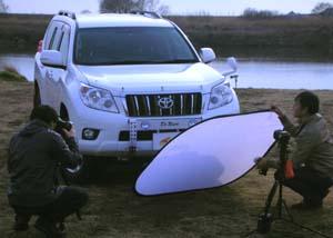 ランドクルーザー(ランクル)150プラドの取材撮影