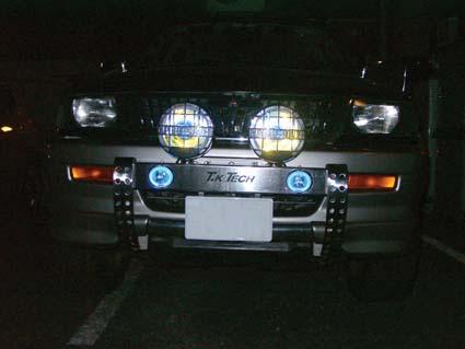 チャレンジャー用LED DOTARM(LED付フォグランプ内蔵型ランプステー)