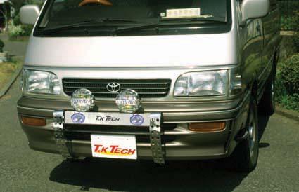ハイエースワゴン用LED DOTARM(LED付フォグランプ内蔵型ランプステー)