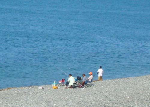 砂浜からの釣り